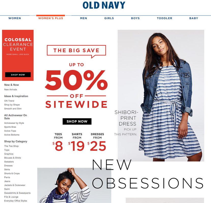 old navy grandes tailles